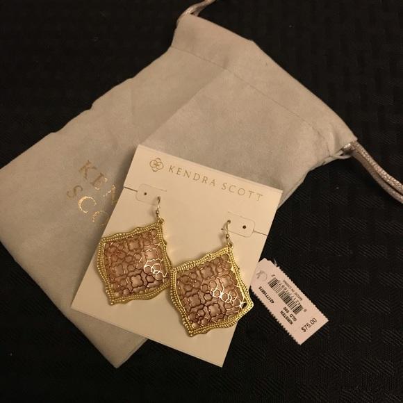 50c5dffbd1722f Kendra Scott Jewelry | Kirsten Gold Drop Earrings In Rose Gold ...